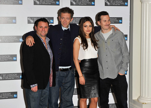 Producer Scott Franklin, Vincent Cassel, Mila Kunis and Darren Aronofsky