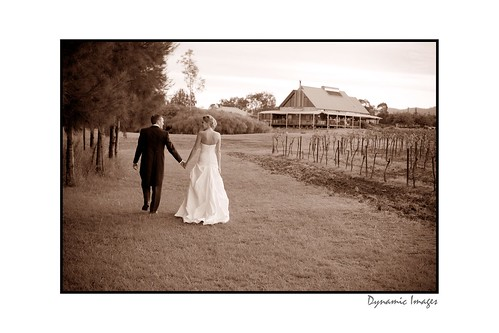 Restaurant Cuvee, Peterson House - Bride and groom taking a stroll.