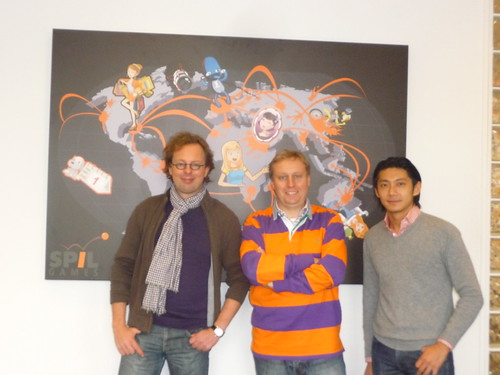 Peter Driessen, Marc van der Chijs & Ho-Pin Tung at Spil Games