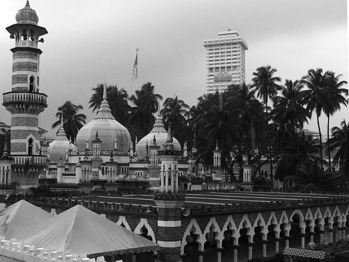 Masjid Jamek in Monochrome