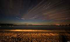 Stars at the beach (c@rljones) Tags: longexposure sea beach wales night clouds stars waves space magic cymru soe startrails gwynedd morfanefyn belial superaplus aplusphoto superhearts status:move=0 httpwwwrljonescouk