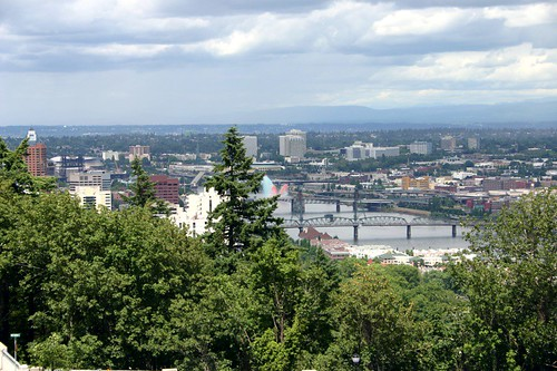 Portland skyline, from the tram station