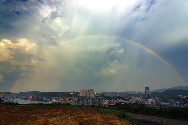 2007.06.18 彩虹橫跨基隆港 / Rainbow over Keelung Harbor (by MaxChu)