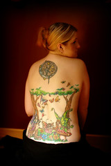 My Back (Kerrie Lynn Photography (Sugaree_GD)) Tags: trees mushroom back butterflies tattoos fairy views 10000 backpiece faries amybrown staceysharp sugareegd keirwells