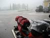 Motorradtour Juni 2007 - Hagelschauer