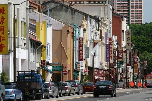Street life. Chinatown, Singapore.