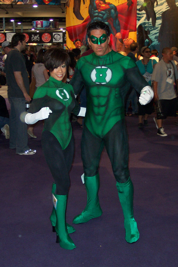 Green lantern cosplay masturbation