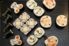 Sushi Art Domo (SydneyWalker) Tags: food 20d canon sushi japanese decorative sydney ken australia japanfoundation makizushi kazari kawasumi sydneywalker decorativesushi