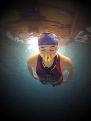 Freediving Record: Liv's 104m Underwater Swim (jayhem) Tags: uk london sports water pool girl sport swimming swim underwater action dive competition diving cc swimmingpool freediving creativecommons swimmer record liv speedo athlete breaststroke relaxed apnea aida bfa camberwell plonge glide competitor skindiving dnf freediver apne ccby noseclip breathhold livphilip dynamicnofins neckweight