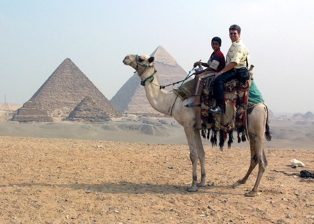 Mohammad, my Camel Driver, his Camel, their Pyramids