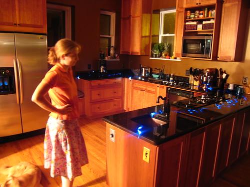 Portrait of Kristin and the Kitchen