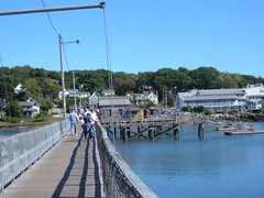 Footbridge across Boothbay Harbor