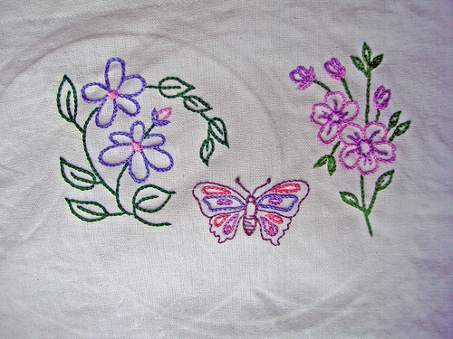 Romantic Flowers Embroidery