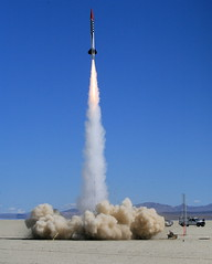 A Perfect P (jurvetson) Tags: desert weekend nevada balls rocket launch blackrock blastoff pmotor balls16