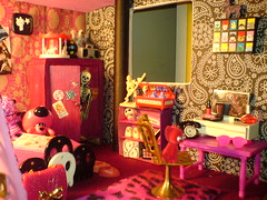 Bedroom (Rainbow Mermaid) Tags: house halloween miniature scary punk doll dolls furniture emo goth funky creepy spooky 80s dollhouse newwave rainbowmermaid