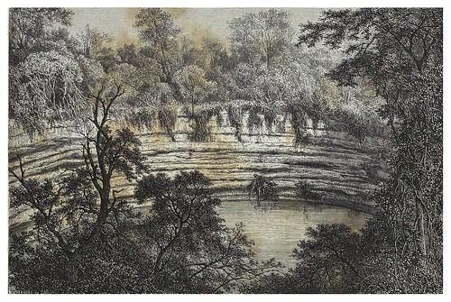 026-El Cenote sagrado de Chichen-Iza-Les Anciennes Villes du nouveau monde-1885- Désiré Charnay