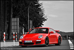 Porsche 997 GT3 MKll (ThomvdN) Tags: red bw black color sc matt germany photography crazy nikon may automotive porsche thom rims scuderia vr 2010 carphotography gt3 997 18105 nordschleife nrburgring nrnburg hanseat d5000 mkll carevent thomvdn