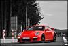 Porsche 997 GT3 MKll (ThomvdN) Tags: red bw black color sc matt germany photography crazy nikon may automotive porsche thom rims scuderia vr 2010 carphotography gt3 997 18105 nordschleife nürburgring nürnburg hanseat d5000 mkll carevent thomvdn