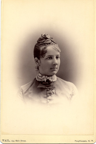 Emily Jordan's ''photograph card'' in her senior year at Vassar
