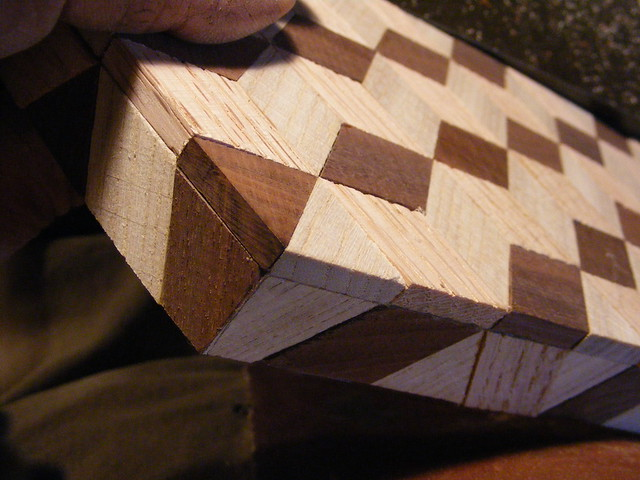Making a Tumbling Block Cribbage Board #21