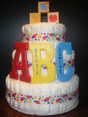ABC Diaper Cake (kelli.bergin) Tags: blue red baby cute yellow diy unique crafts abc blocks diapers babyshower diapercake uniquegift nappycake uniquebabygifts uniquebabygift abcdiapercake
