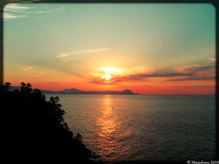Sunset On Paradise (Mustafiano) Tags: sunset sea summer sky panorama sun color nature beautiful wonderful landscape algeria paradise picture olympus ciel belle paysage vue beau paradis paradisio algrie panoramique beacu olympus1050