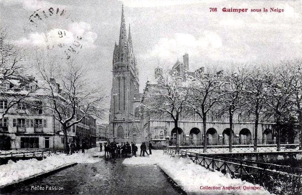 neige à Quimper en janvier 1914