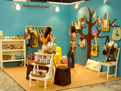 lof booth (my little odd forest) Tags: show tree fashion booth design singapore bags decor forestprints littleoddforest trade