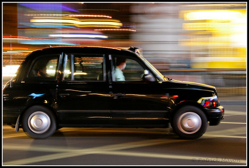 Black cab in London.