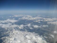 In-flight mountains