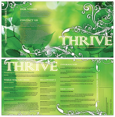 THRIVE - FINAL (David Choate) Tags: church typography design series sermon bulletin thrive