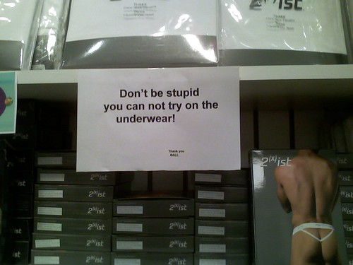 Don't be stupid you can not try on the underwear! Thank you BALL