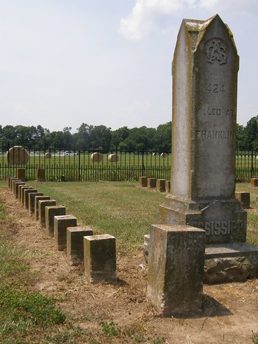Marker honoring the Mississippi dead at Franklin, McGavock Cemetery