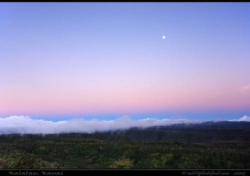 Kalalau Moonrise  Kauai
