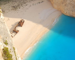 Shipwreck Beach (RobW_) Tags: beach 1025fav wednesday july greece shipwreck zakynthos 2007 navagio jul2007 04jul2007