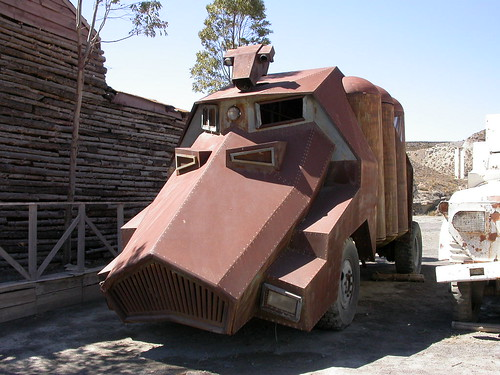 Vehicle from 80s film Solarbabies -- solarbabies mad tabernas max howzey madmax 80s vehicle