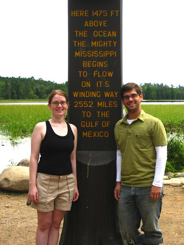 Hayden and Apryl at the Mississippi Headwaters