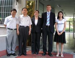 Prof Huang, Prof Wan, Niamh, Graham and Chunxiao