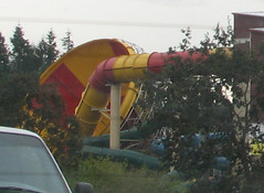 glimpse of the funnel of the waterslide of awesome