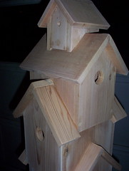 Bird Tower - 4 (Geo Birdhouse) Tags: rustic homemade handcrafted geobirdhouse