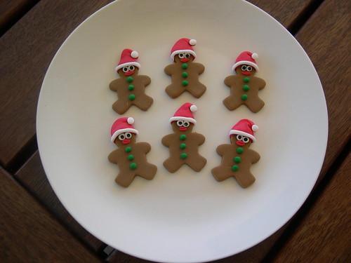 Homem de gengibre Natal toppers queque