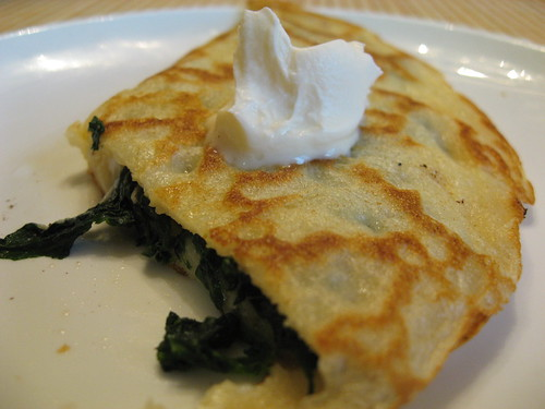 Spinach and Fontina Crêpe