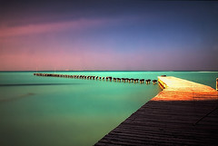 Caribbean Jetty (DolliaSH) Tags: ocean longexposure trip travel sea vacation holiday seascape tourism beach toxic colors canon mexico fun amazing sand topf50 colours tour place jetty hurricane yucatan playadelcarmen visit location tourist explore filter le journey mexique destination cancun traveling visiting rivieramaya topf150 topf100 destroyed touring mexiko islamujeres marcaribe caribe messico quintanaroo 1755 caribbeansea turquoisewaters meksiko 4000views explored peninsuladeyucatan meksyk nd110 canoneos50d mexik dollia dollias sheombar dolliash bw10stopsolidndfilter