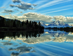 Striated Clouds at Oxbow Bend (Jeff Clow) Tags: morning clouds bravo mountmoran tetons grandtetonnationalpark oxbowbend jacksonholewyoming jeffrclow