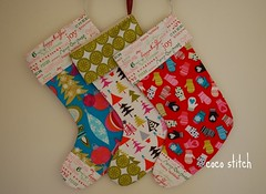 christmas stocking 2010 (coco stitch) Tags: blue red white tree michaelmiller christmasstocking mitton