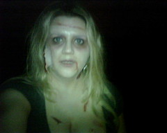 Scary looking zombie Kymberlie