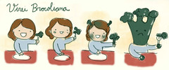 Virei brocoliana (Giovana Medeiros) Tags: food comics brocoli