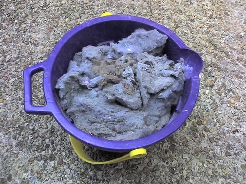bucket of dryer lint
