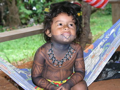 Embera Indian Girl - Panama (~marcus~) Tags: world jungle panama tribe embera nomads gatun worldnomads explored lpfaces