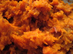 Mashed Sweet Potatoes with Shallots